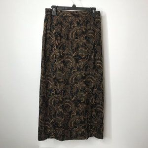 Kathie Lee Collection Greenwich Paisley Maxi Skirt